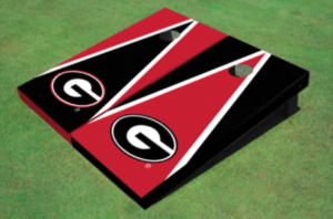 Georgia Bulldogs themed corn hole game boards - gifts for football fans