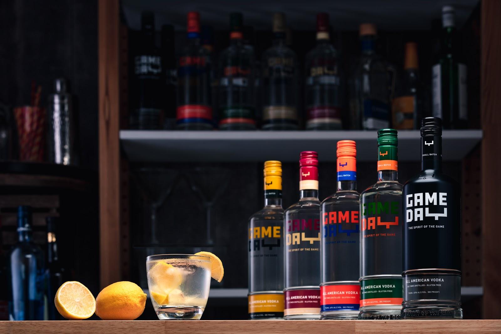 GameDay All American Craft Vodka Brand Line Up